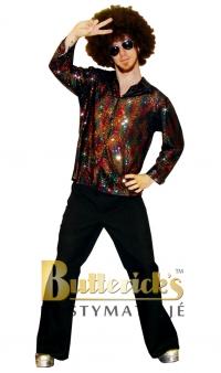 Discoskjorta svart glitter