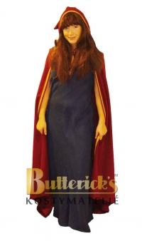 Medeltidsklänning med cape