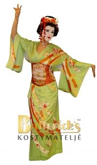 Geisha, grön fjäril