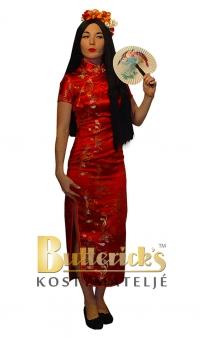 Kinesisk klänning, röd