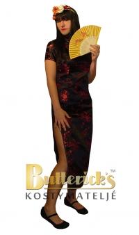 Kinesisk klänning, svart