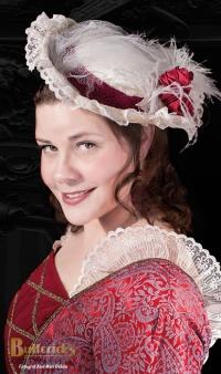 1700-talsklänning röd