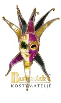 Venetiansk mask lila